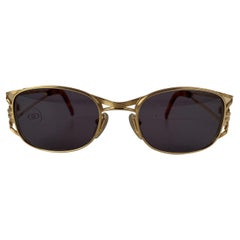 Jean Paul Gaultier Vintage Gold Tone Sunglasses Mod. 58-5101