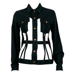 Jean Paul Gaultier Vintage Iconic Black Cage Jacket