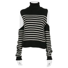 Jean Paul Gaultier Vintage Iconic Destructured Sailor Stripes Sweater
