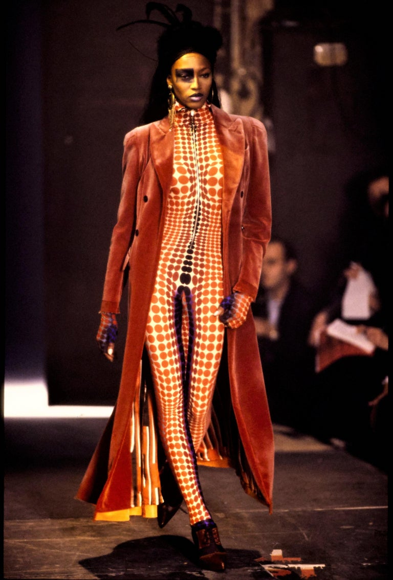 Jean Paul Gaultier Vintage Important Vasarely Iconic Op