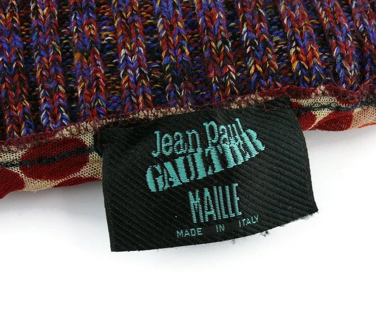 Jean Paul Gaultier 1980s Men Rare Op Art Torso Jacket