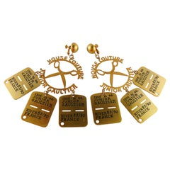 Jean Paul Gaultier Vintage Massive Mobile House Couture Dangling Earrings