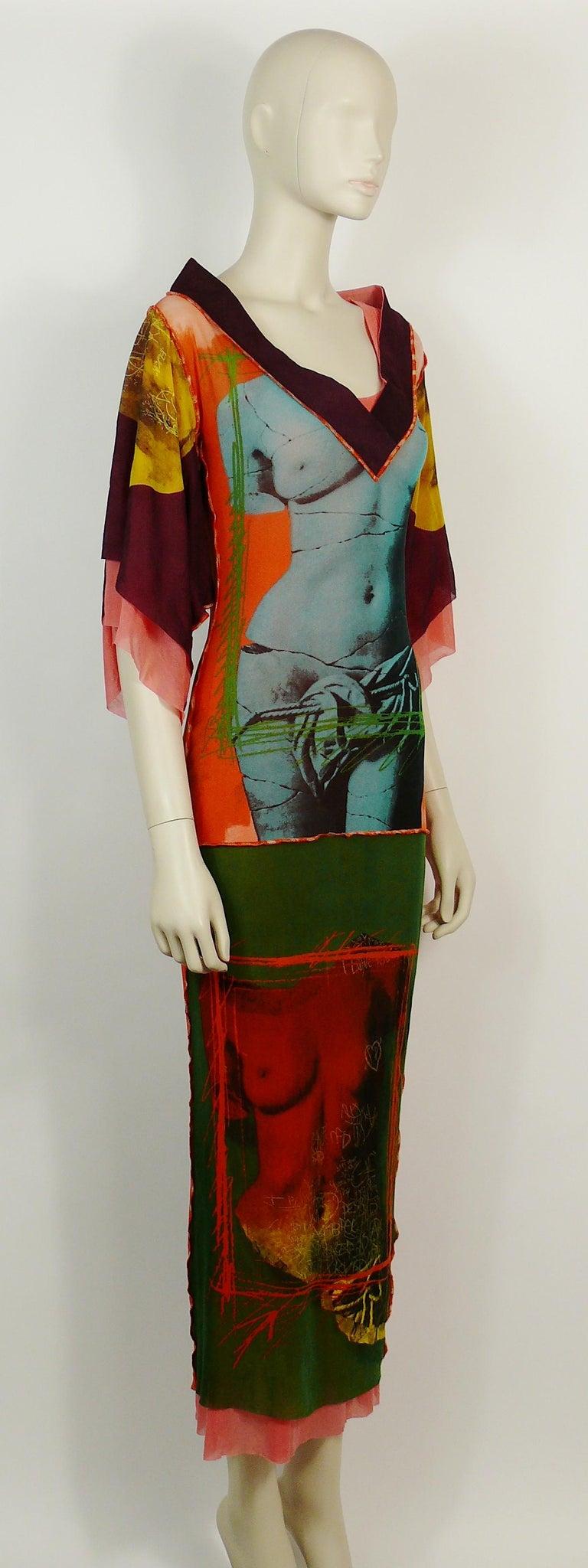 Jean Paul Gaultier Vintage Nude Woman And Snake Club Kid