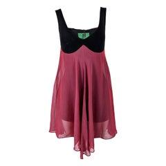 Jean Paul Gaultier Vintage Pink Chiffon & Cotton Jersey Playsuit