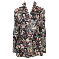 Jean Paul Gaultier Vintage Retro Portraits Lightweight Cotton Jacket Size M