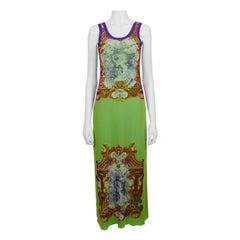 Jean Paul Gaultier Vintage Rococo Print Tank Mesh Dress Size M