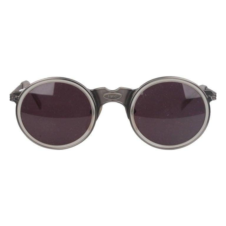 Jean Paul Gaultier Vintage Silver Round Sunglasses 56-3272