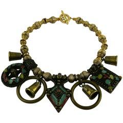 Jean Paul Gaultier Vintage Tribal Charm Necklace