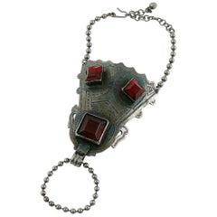 Jean Paul Gaultier Vintage Tribal Ethnic Ring and Bracelet