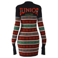 Jean Paul Gaultier Wool Knit Sweater Dress
