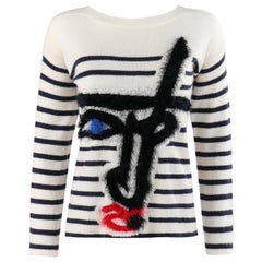 JEAN PAUL GAULTIER x Lindex 2014 Ltd. Ed. Stripe Picasso Face Pattern Sweater