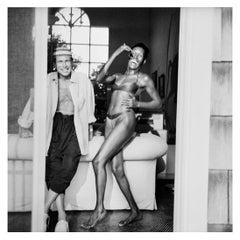 Jean-Paul Goude and Grace Jones, Long Island NY, 10 Aug 1992 by Jonathan Becker