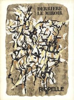 1966 Jean-Paul Riopelle 'DLM No. 160 Cover' Cubism Multicolor France Lithograph