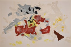 Composition in Yellow - Original Lithograph by Jean-Paul Riopelle - 1968