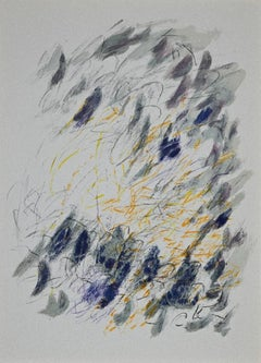 Composition - Original Lithograph by Jean-Paul Riopelle - 1968
