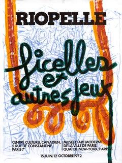 """""""Ficelles et autres jeux"""" Riopelle Original Vintage Exhibition Poster"""