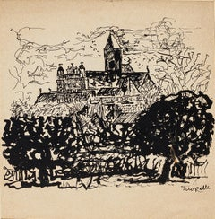 Church - Original Lithograph on Paper, by Jean Paul Riopelle - 20th Century