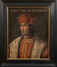 Portrait King Charles Of France (1470-1498), 17th Century