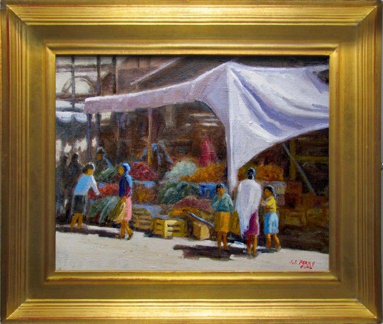 Jean Perry Landscape Painting - San Miguel Market