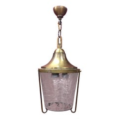Jean Perzel, Lantern in Brass and Glass, circa 1960