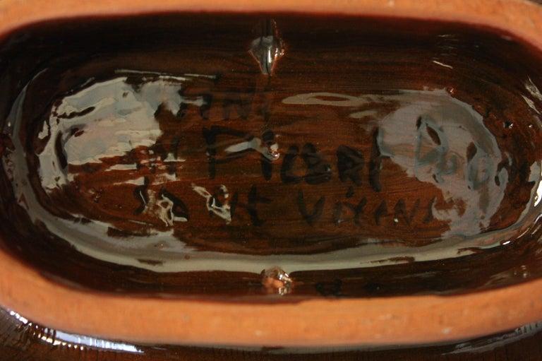French Jean Picart Le Doux, Large 'Oiseaux' Ceramic Bowl, 1960s For Sale