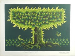 Jean Picart Le Doux Lithograph Hand Signed Poeme Vegetal EA c1950-1960 unframed