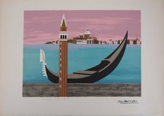 Lagoon of Venice - Original handsigned lithograph/ EA