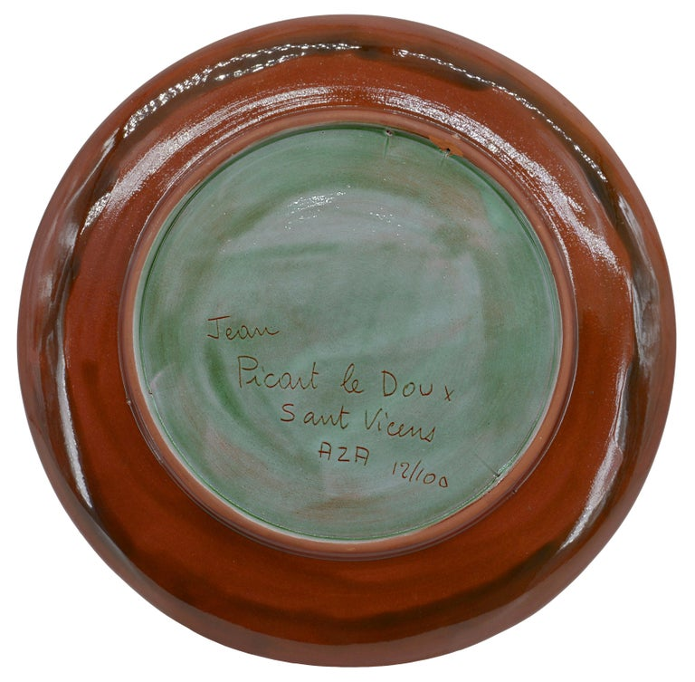 Mid-Century Modern Jean Picart Le Doux, Wall Ceramic Bowl, 12/100, 1950s For Sale