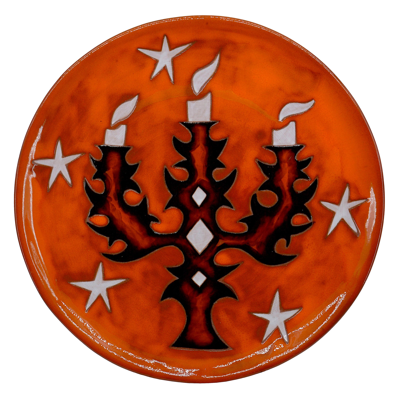 Jean Picart Le Doux, Wall Ceramic Bowl, 12/100, 1950s