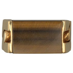 Jean Pierre Brun Gold and Tiger's Eye Ring