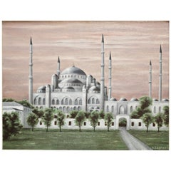 "Jean-Pierre Capron '1921-1997' ""La Mosquee Bleue D'istanbul"" Oil on Canvas"
