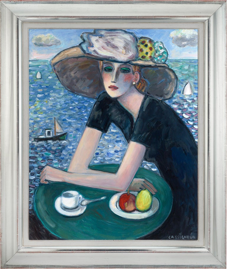 Le temps qui passe (Passing Time) - Painting by Jean-Pierre Cassigneul