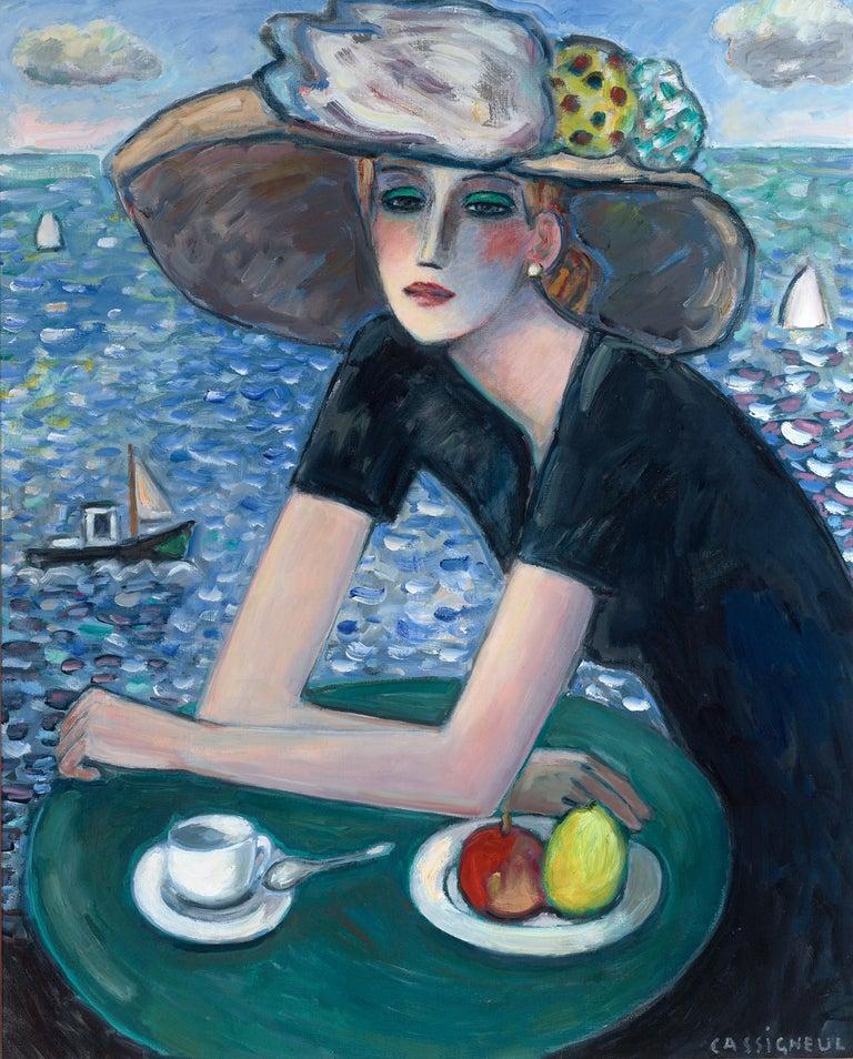 Jean-Pierre Cassigneul Portrait Painting - Le temps qui passe (Passing Time)