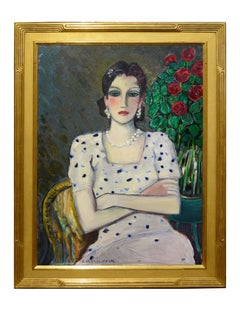 "Modern Fauvist Portrait of a Woman by Cassigneul, ""L' Espagnole"""