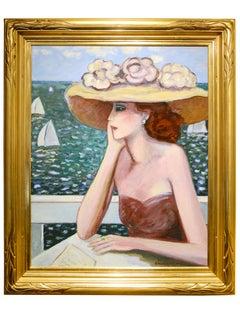 """Modern Fauvist Portrait of a Woman by Cassigneul, """"Le Rendez-vous manque"""""""