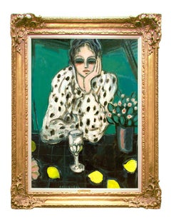 "Modern Fauvist Portrait of a Woman by Cassigneul, ""Les Citrons"""