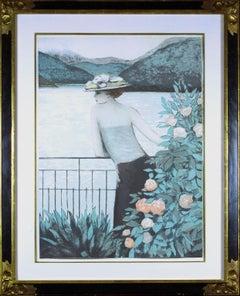Hakone Prince Hotel-Hakone lithograph by Jean-Pierre Cassigneul. Edition E.A.