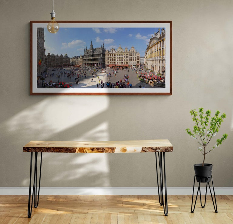 Brussels Grand'Place - Summer 2013 - Contemporary Panoramic Color Photography For Sale 1