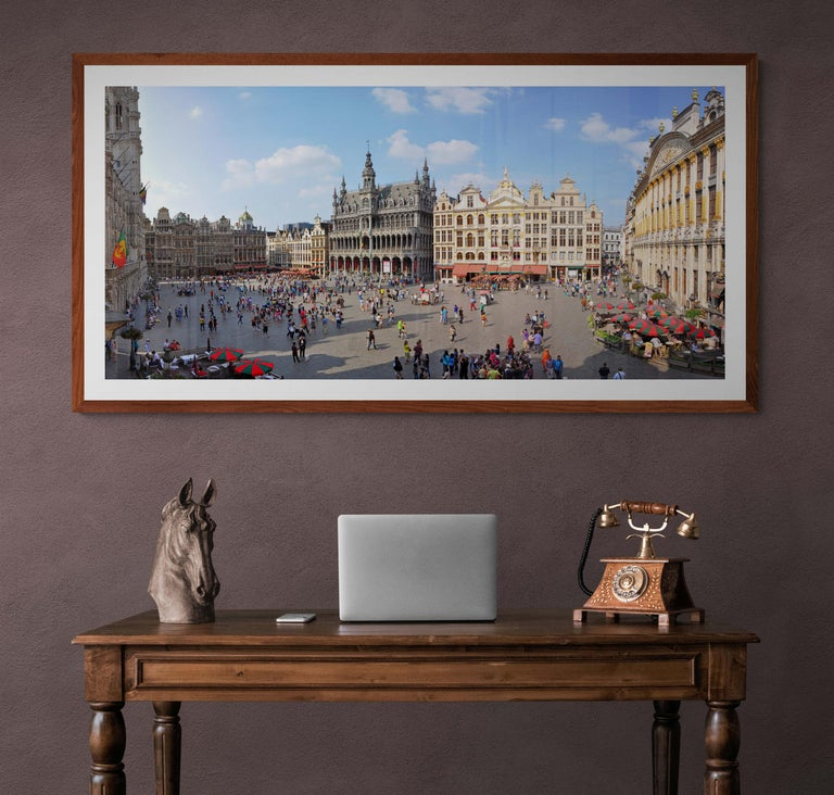 Brussels Grand'Place - Summer 2013 - Contemporary Panoramic Color Photography For Sale 2
