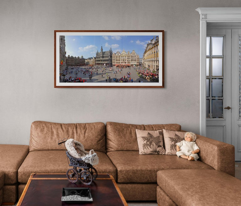 Brussels Grand'Place - Summer 2013 - Contemporary Panoramic Color Photography For Sale 3