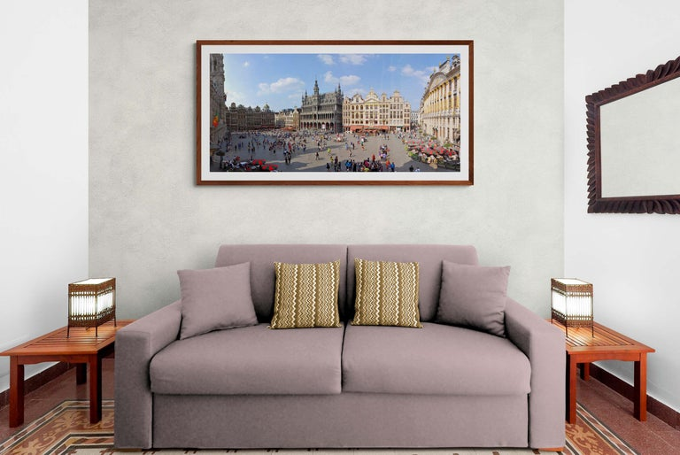 Brussels Grand'Place - Summer 2013 - Contemporary Panoramic Color Photography For Sale 4