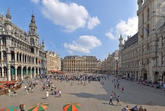 Brussels Grand'Place - Summer 2013 - Contemporary Panoramic Color Photography