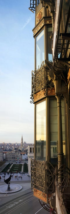 Brussels Skyline from music museum- Contemporary Panoramic Color Photography