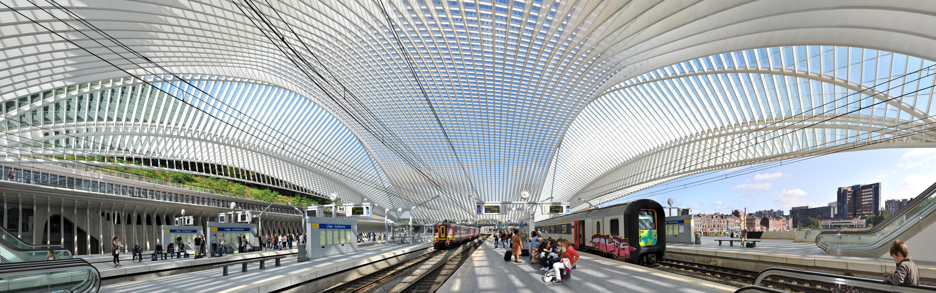 The Guillemins Railways station, 2010 - Contemporary Panoramic Color Photography