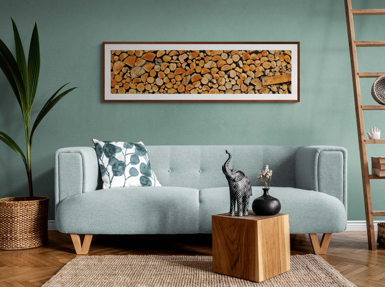 Wood Stock from Abruzzo - Italy  -  Contemporary  Panoramic Color Photography For Sale 2
