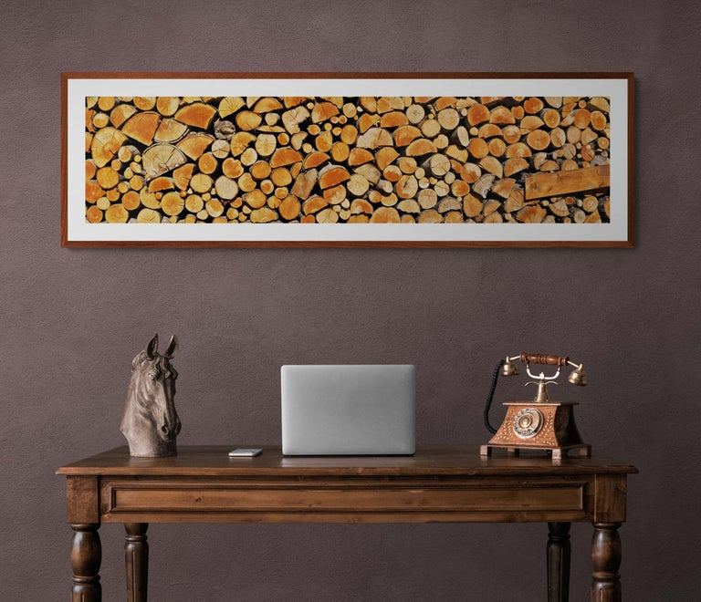 Wood Stock from Abruzzo - Italy  -  Contemporary  Panoramic Color Photography For Sale 3