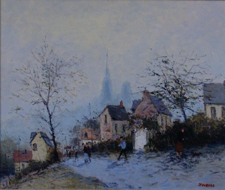 Les Hauteurs de Rouen (The Heights of Rouen) - Painting by Jean-Pierre Dubord