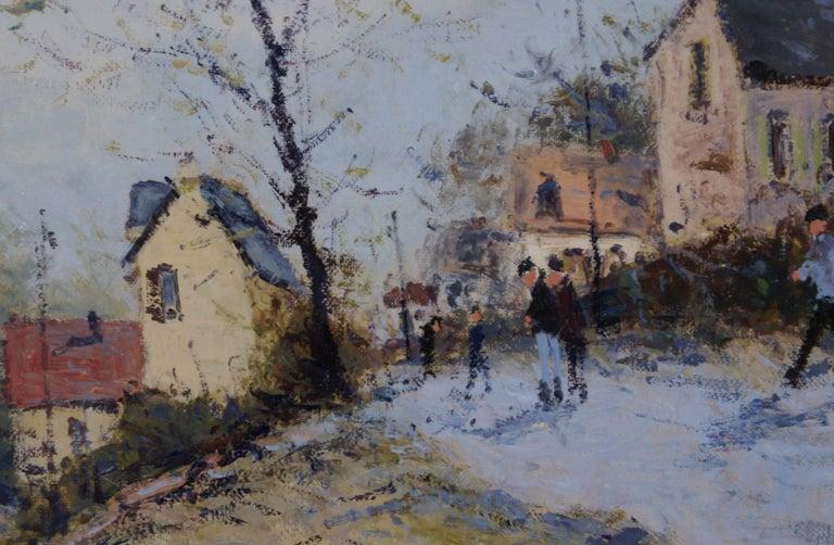 Les Hauteurs de Rouen (The Heights of Rouen) - Impressionist Painting by Jean-Pierre Dubord