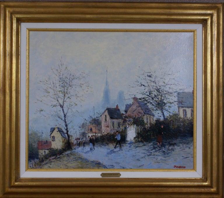 Jean-Pierre Dubord Figurative Painting - Les Hauteurs de Rouen (The Heights of Rouen)