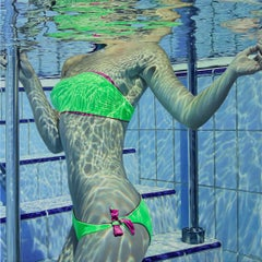 Pool no. 27 - Original contemporary realistic oil painting modern 21st Century